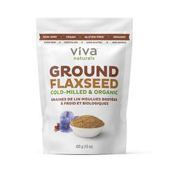 image of Ground flax seeds