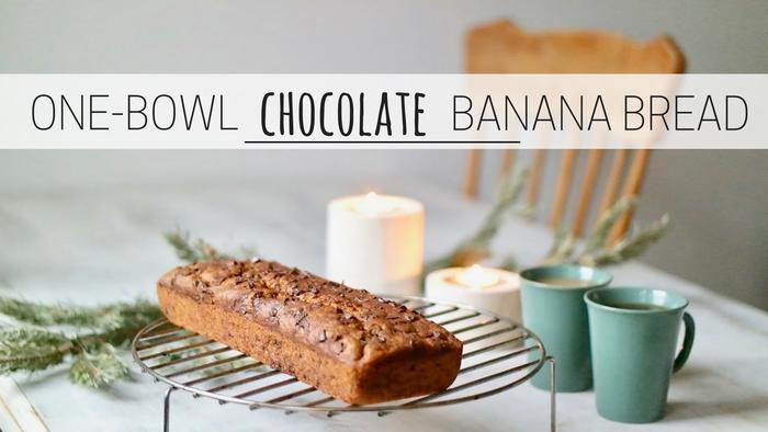 image of One-bowl chocolate banana bread