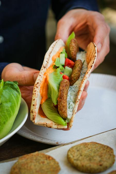 image of Baked Green Pea & Chickpea Falafels