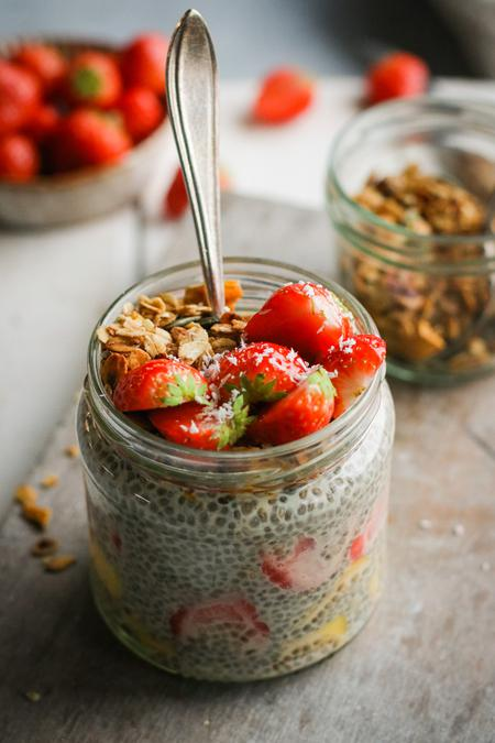 image of Vanilla Chia Pudding with Mixed Fruit