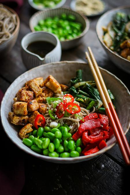 image of Black Bean Garlic Tofu Nourish Bowl