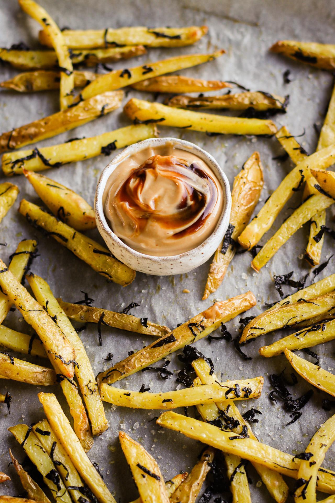 Main image of Seaweed Baked Fries with Hoisin Mayo & Sriracha Mayo