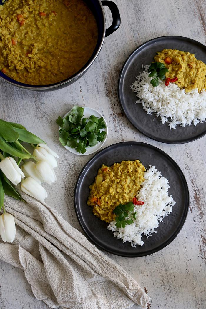 Image of Comforting Coconut Red Lentil Daal