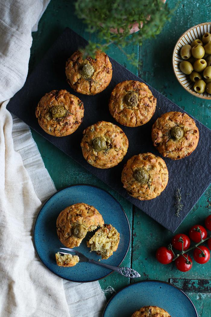 Image of Savoury Sun-Dried Tomato & Olive Muffins