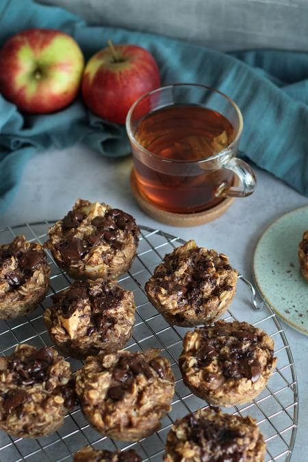 image of Apple & Banana Peanut Butter Breakfast Cups