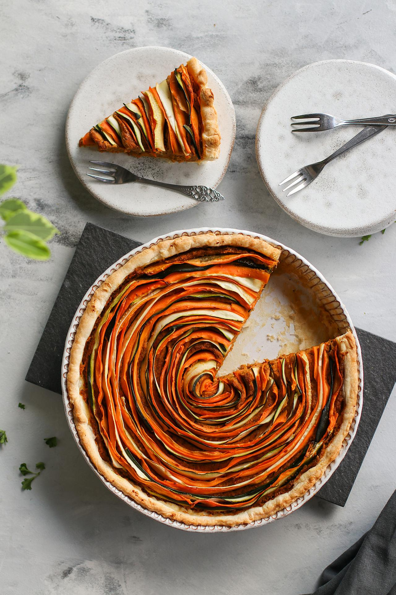 Main image of Sun-Dried Tomato & Roasted Vegetable Tart