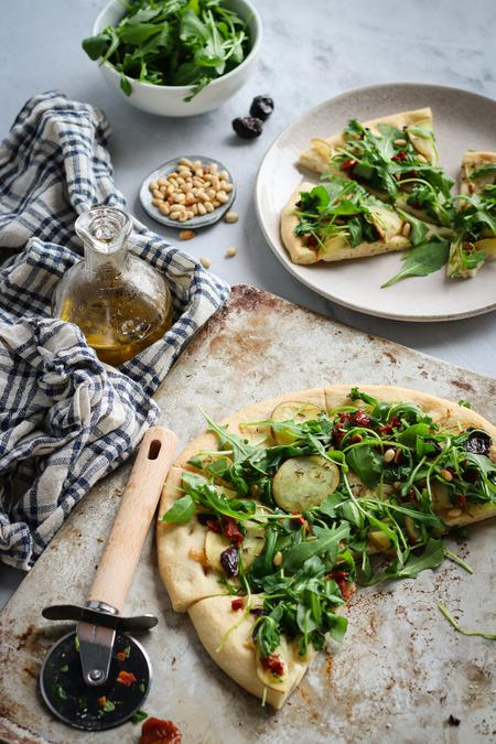 image of Roasted Garlic, Potato & Arugula Pizza