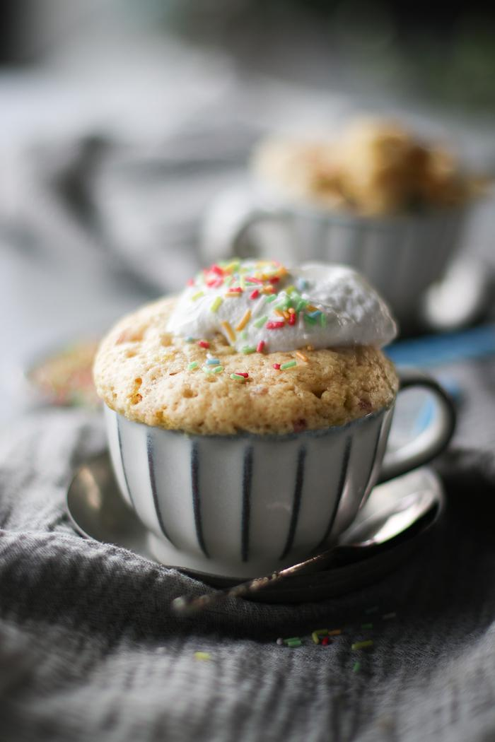 Image of Vanilla Birthday Mug Cake
