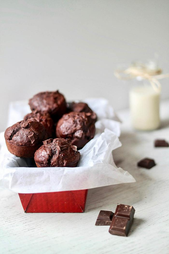 Image of One-Bowl Double Chocolate Banana Muffins