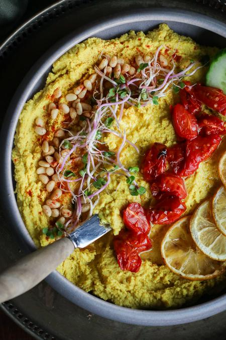 image of Roasted Lemon Turmeric Hummus