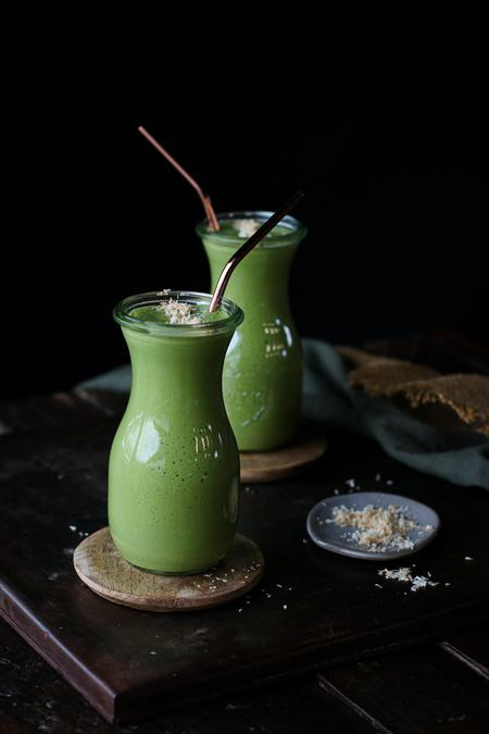 image of Beginner's Green Smoothie: Peanut Butter & Banana