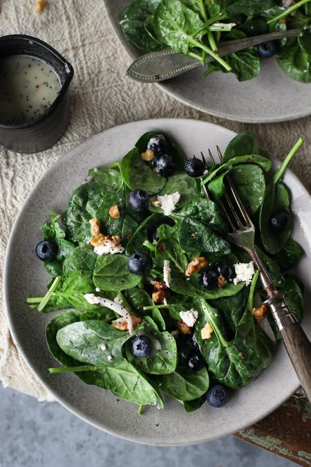 """image of Spinach, Blueberry & """"Feta"""" Salad"""