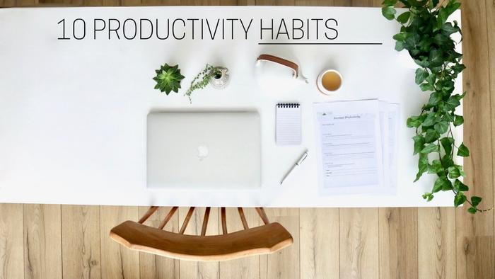image of Healthy Productivity Habits