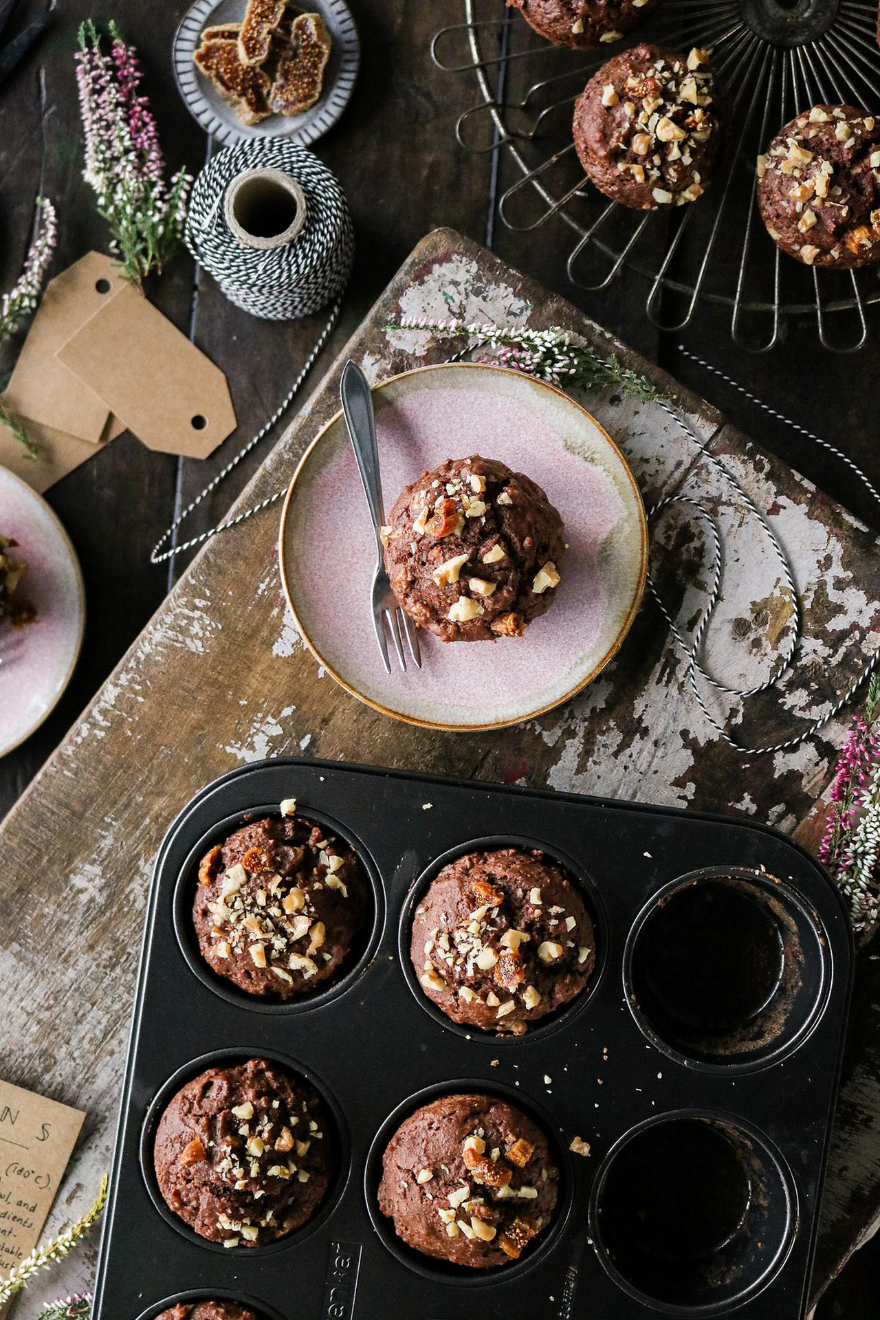 Main image of Spiced Walnut & Fig Muffins