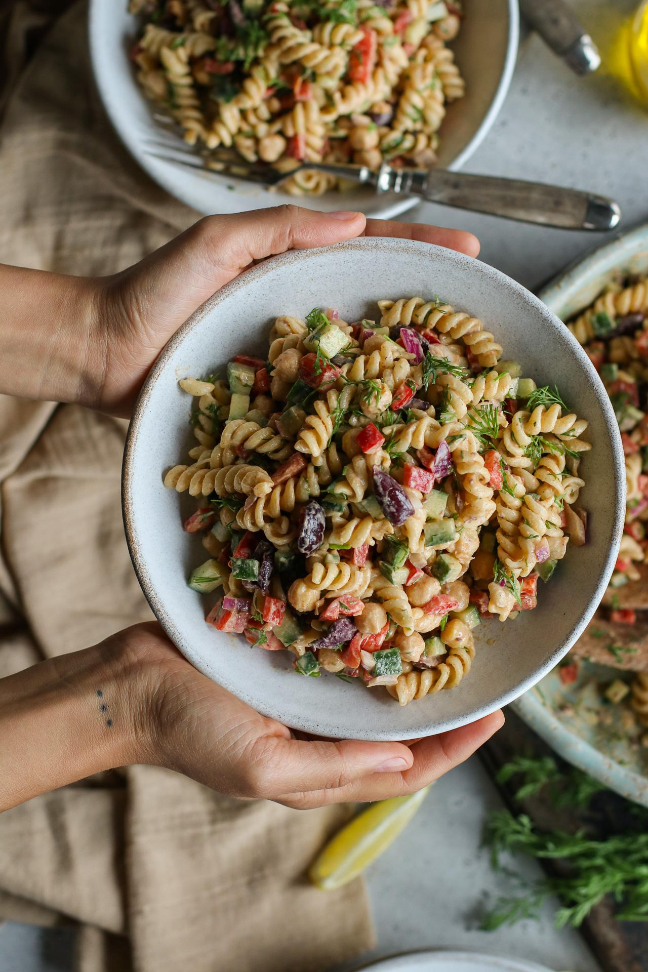Main image of Dill Pasta Salad with a Tahini Dressing