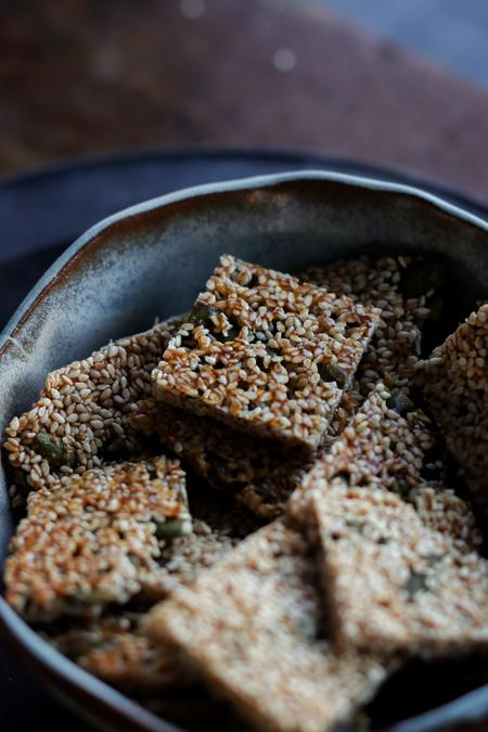 image of Crunchy Sesame Snaps