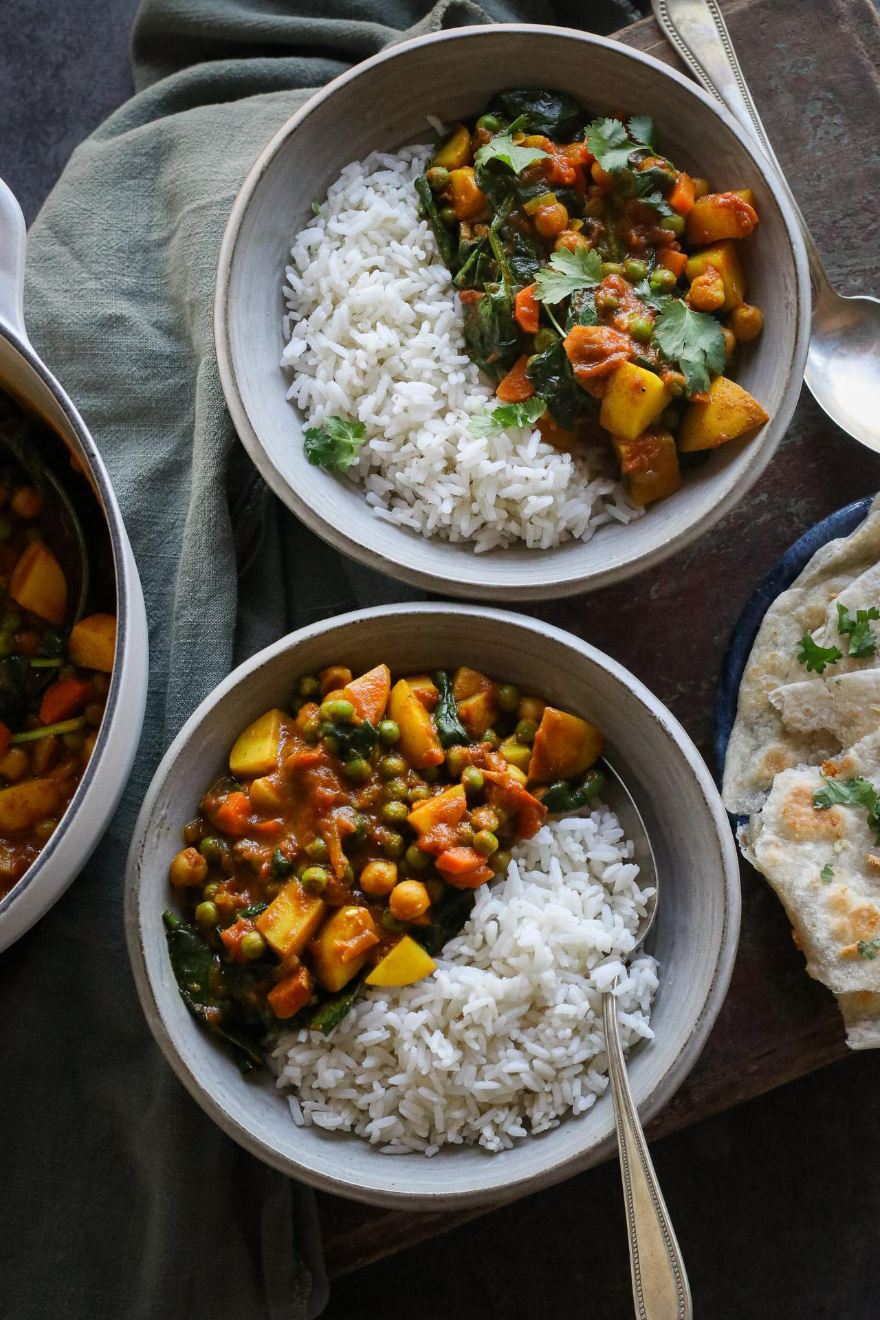 Main image of Potato & Spinach Curry