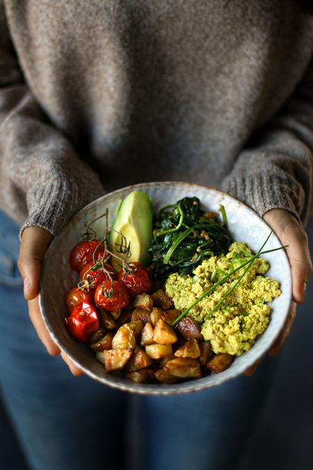 "image of Vegan ""Egg"" Salad Breakfast Bowl"