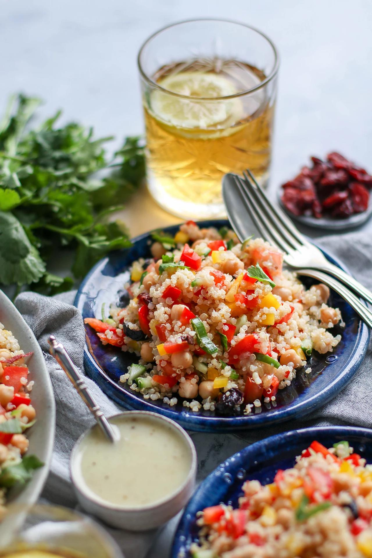 Main image of Quinoa Salad with Roasted Garlic Dressing