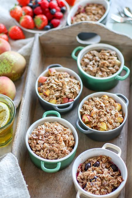 image of Baked Fruit Crumble - Three Ways