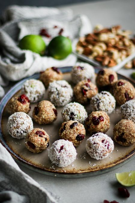 image of Cranberry Lime Bliss Balls