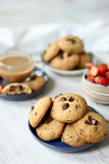 image of One-Bowl Soft Vegan Chocolate Chip Cookies
