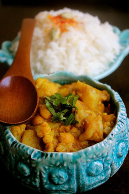 image of Cauliflower Chickpea Coconut Curry