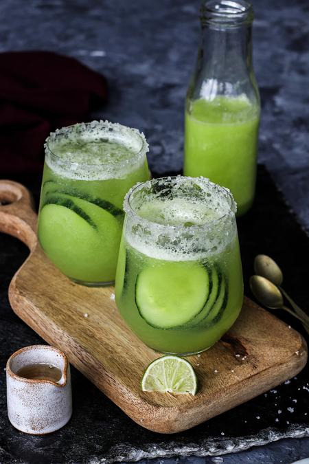 image of Refreshing Melon Cucumber Soda
