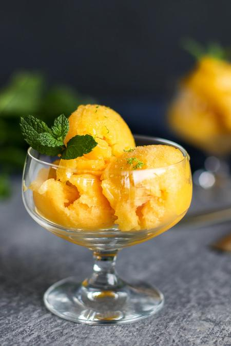 image of Mango Ginger Sorbet