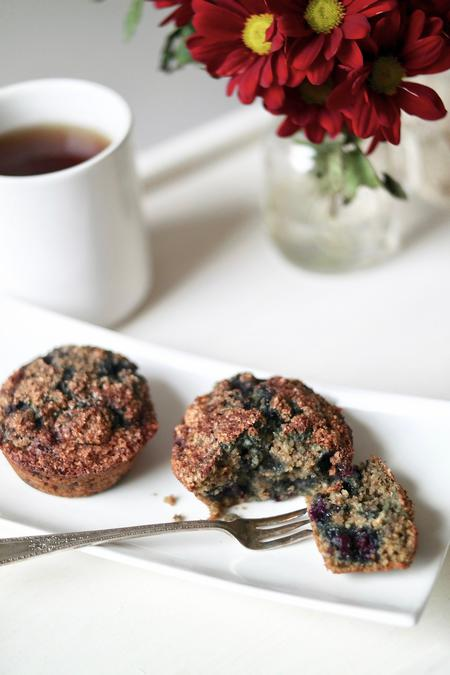 image of One-Bowl Oatmeal Blueberry Muffins