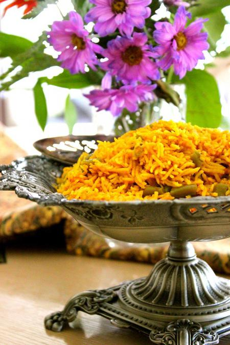 image of Afghan Green Bean Spiced Rice