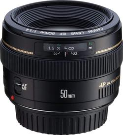 image of Canon ef 50mm f/1.4 usm lens