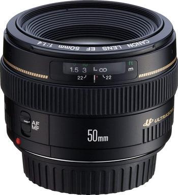 image of Canon ef 50mm f/1.4 usm lens
