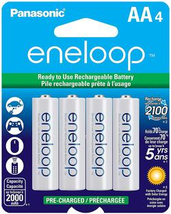 image of Panasonic rechargeable batteries