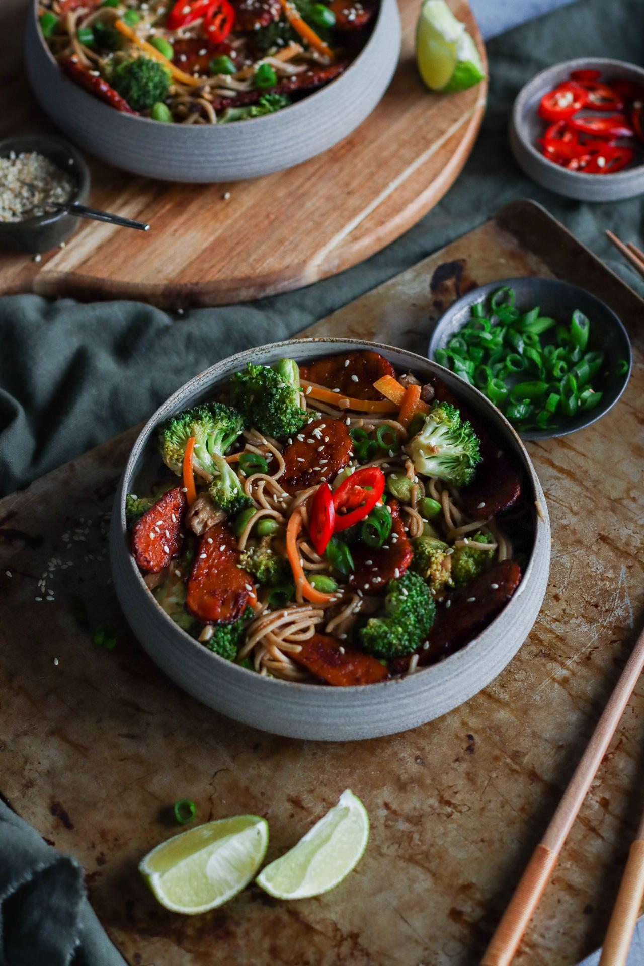 Main image of Soba Noodle Bowl with BBQ Tempeh