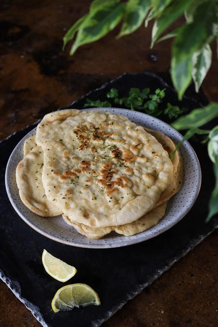 image of Herb & Garlic Homemade Vegan Naan