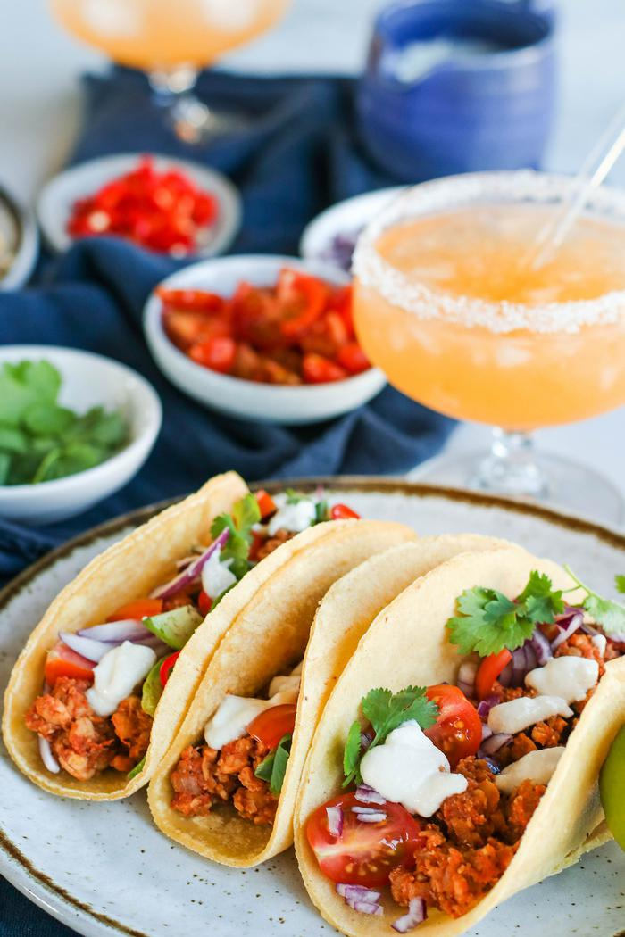 Image of Tempeh Tacos with Cashew Lime Cream