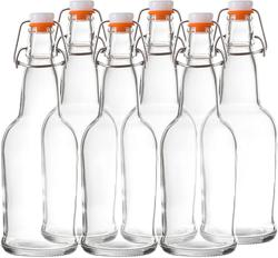 image of Swing-top glass bottles