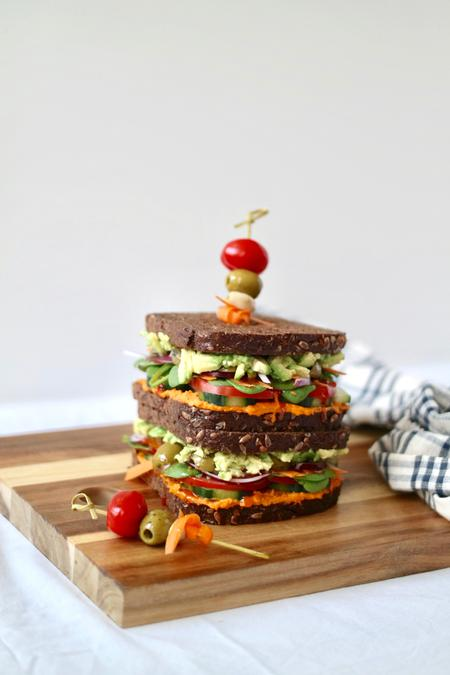 image of Loaded Avocado & Hummus Veggie Sandwich