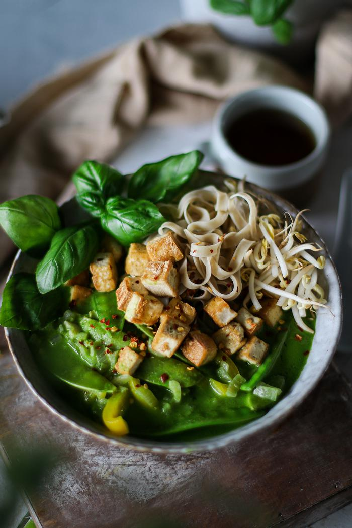 Image of Coconut Thai Green Curry Noodle Soup