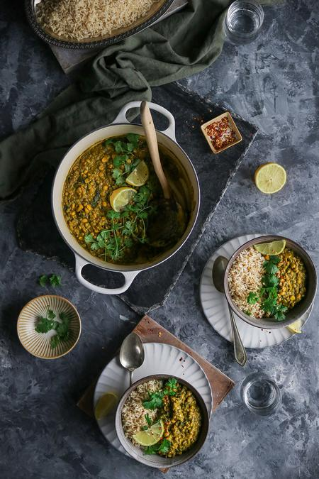 image of Green Spinach Coconut Curry