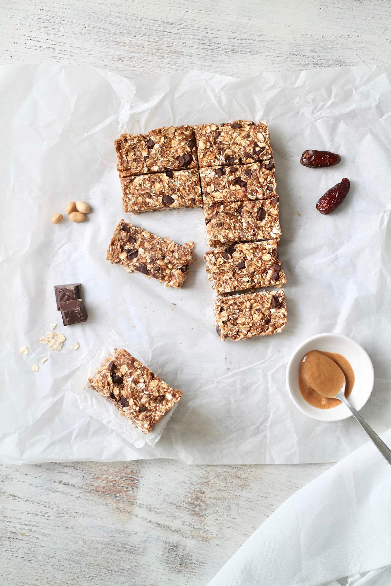 Main image of Chewy No-Bake Peanut Butter Dark Chocolate Oat Bars