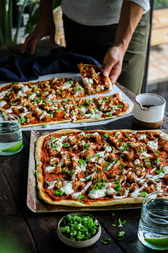Image of BBQ Cauliflower Pizza