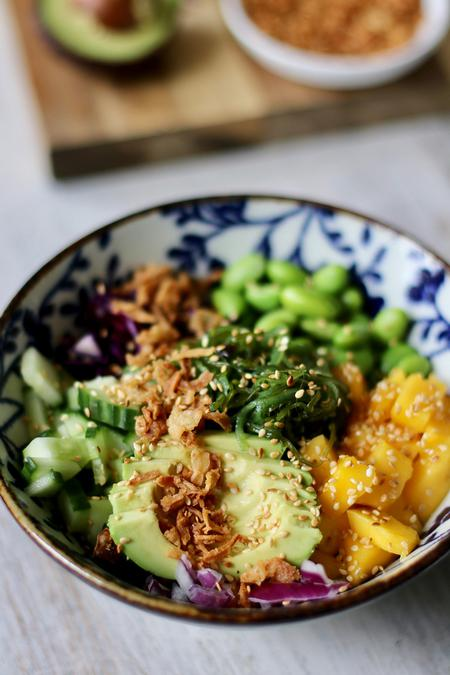image of Deconstructed Sushi Bowl with Sweet Sesame Dressing
