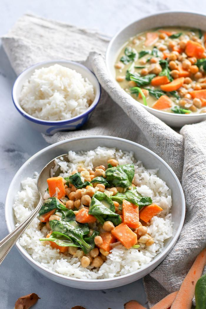 Image of Thai Sweet Potato & Chickpea Green Curry
