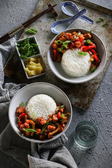 image of Sweet and Sour Tofu Stir Fry