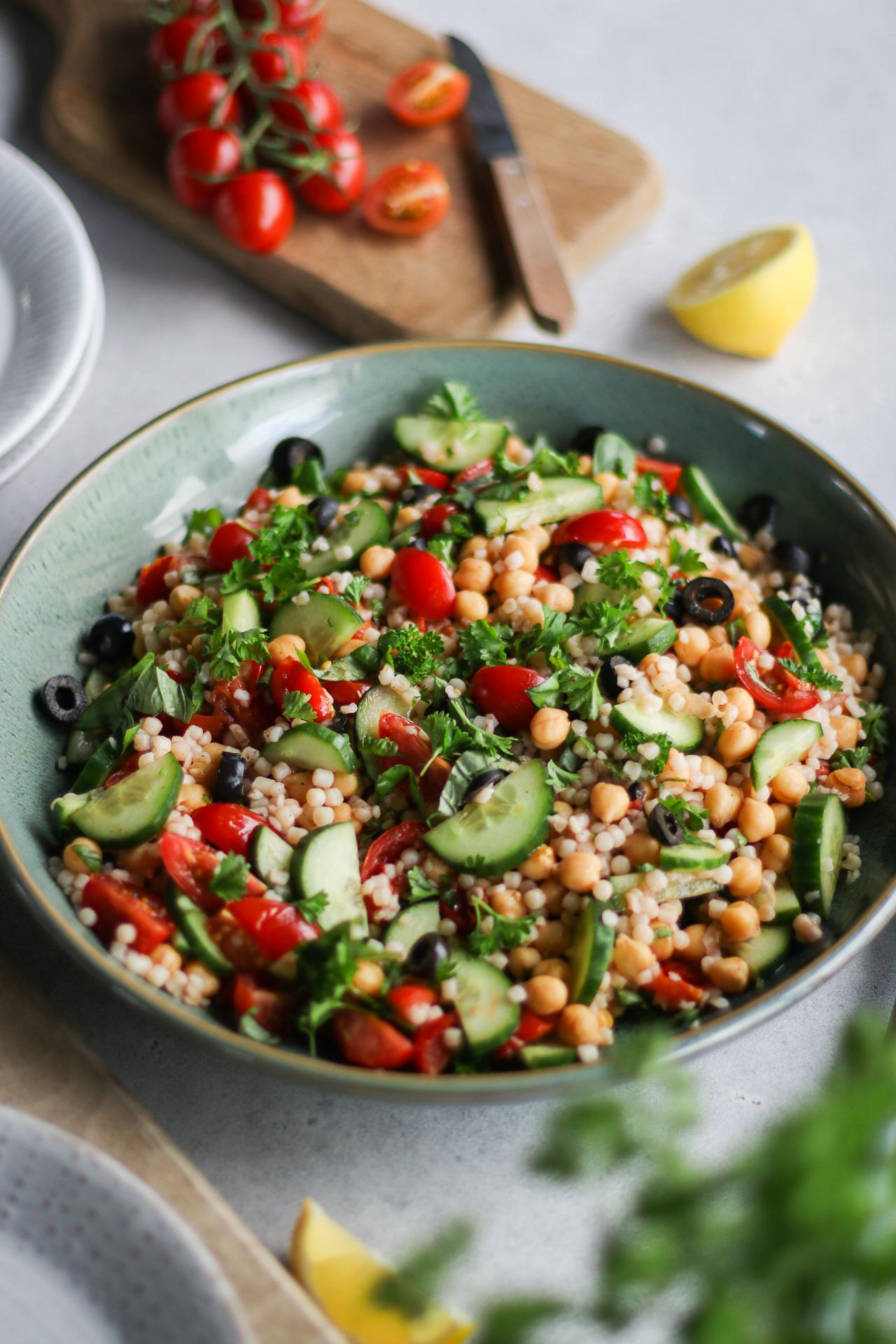 Main image of Warm Pearl Couscous Salad