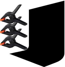 image of Black backdrop with spring clamps