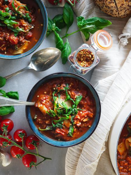 image of One-Pot Lasagna Soup