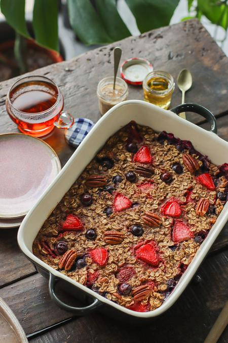 image of Baked Berry & Pecan Oatmeal